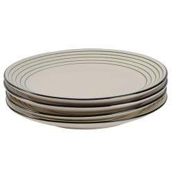Coastal Stoneware Green Dinner Plate - Set of 4 - 26.5cm