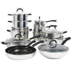 Gourmet Stainless Steel Cookware Set - 12 Piece