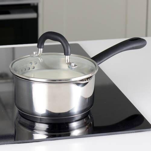 Gourmet Stainless Steel Saucepan & Lid 14cm / 1.1L