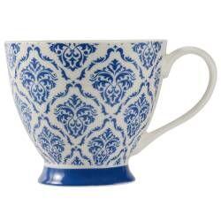 ProCook Footed Mug - Damask Blue