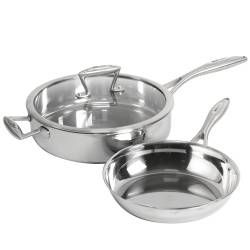 Elite Tri-ply Saute and Frying Pan Set - 2 Piece Uncoated
