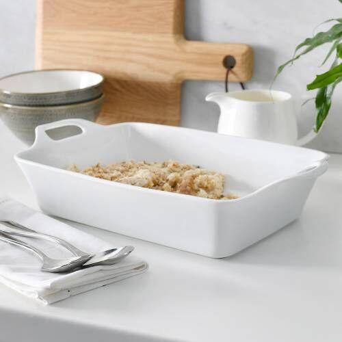 ProCook Porcelain Oven Dish 33.5cm x 19cm White