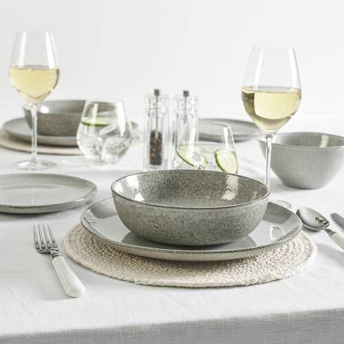 Oslo Coupe Stoneware Dinner Set 16 Piece - 4 Settings