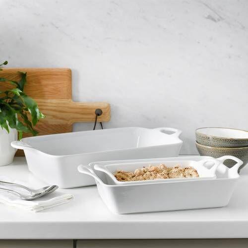 ProCook Porcelain Oven to Tableware Set 3 Piece White