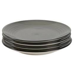 Coastal Stoneware Grey Side Plate - Set of 4 - 22cm
