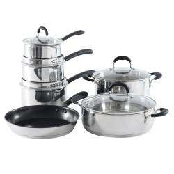 Gourmet Stainless Steel Cookware Set - 6 Piece