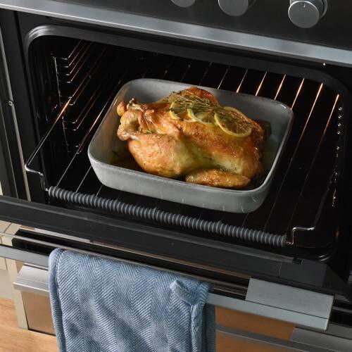 ProCook Stoneware Oven Dish 27cm x 21cm Reactive Grey
