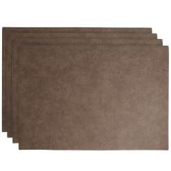 ProCook Rectangular Placemats - Set of 4 - Tan Faux Leather