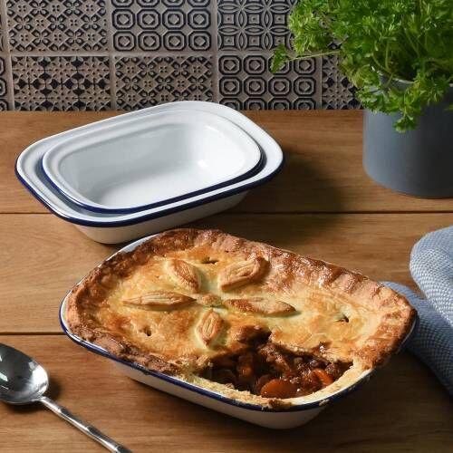 ProCook Enamel Bakeware Pie Dish Set 3 Piece
