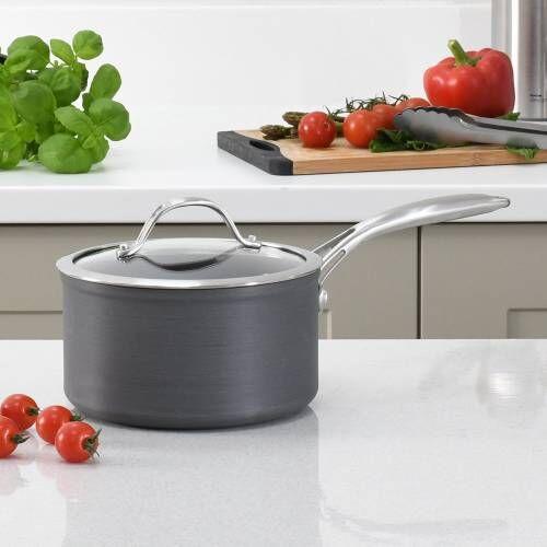 Professional Anodised Saucepan & Lid 18cm / 2.5L
