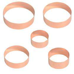 ProCook Round Copper Cookie Cutters - Set of 5