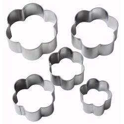 ProCook Flower Cookie Cutters - Set of 5