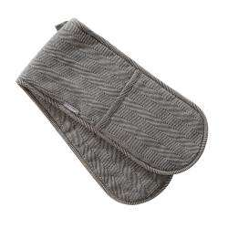 ProCook Double Oven Glove - Black and Biscuit Herringbone