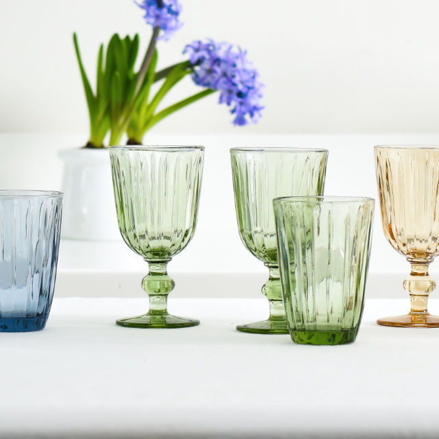 Coloured <br/>Glassware