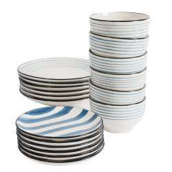ProCook Dartmouth Stoneware Dinner Set - 18 Piece  - 6 Settings