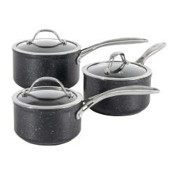 ProCook Professional Granite Saucepan Set - 3 Piece