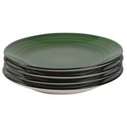 Coastal Stoneware Green Side Plate - Set of 4 - 21cm