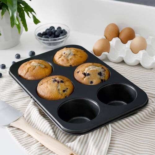 ProCook Non-Stick Muffin Sheet 6 Cup