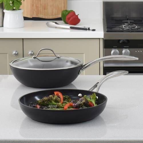 Professional Ceramic Wok and Frying Pan Set 2 Piece