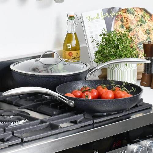Professional Granite Wok and Frying Pan Set 2 Piece