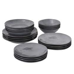 Malmo Charcoal Dinner Set - 20 Piece - 4 Settings