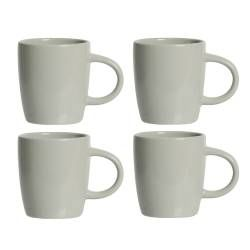 Stockholm Grey Stoneware Mug - Set of 4 - 340ml