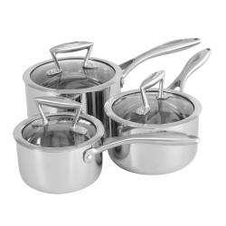 ProCook Elite Tri-Ply Saucepan Set - 3 Piece