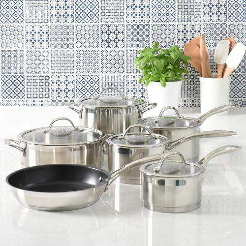 Professional Stainless Steel Cookware Set 6 Piece