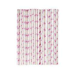 Life's a Beach Paper Straws - Flamingos 100 Pieces