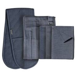 ProCook Kitchen Linen 3 Piece Set - Blue Grey