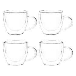 ProCook Double Walled Glass Cup Set of 4 - 110ml