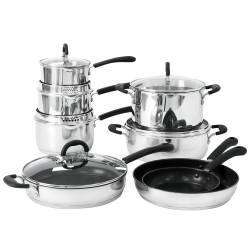ProCook Gourmet Steel Cookware Set - 8 Piece Chef
