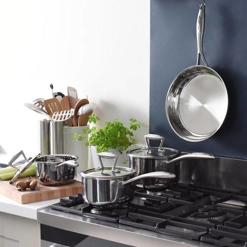 Elite Tri-ply Cookware Set Uncoated 4 Piece