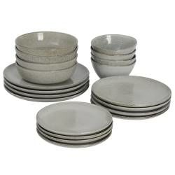Oslo Coupe Stoneware Dinner Set - 20 Piece - 4 Settings