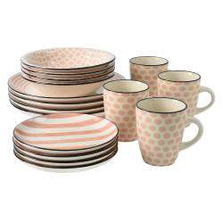 ProCook Polperro Stoneware Dinner Set - 16 Piece Set - 4 Settings