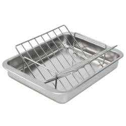 ProCook Stainless Steel Roasting Tin and Rack - 32 x 43cm