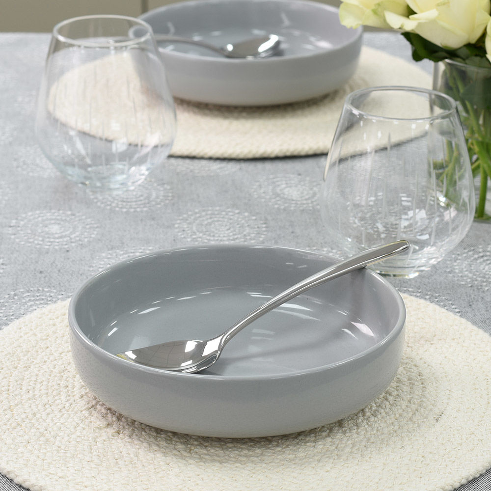 Stockholm Grey Stoneware Pasta Bowl