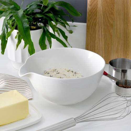 ProCook Porcelain Mixing or Batter Bowl 19.5cm White