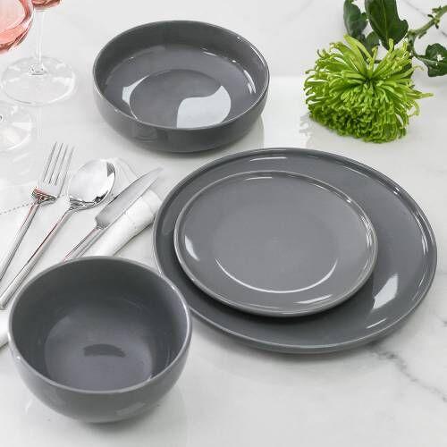 Stockholm Slate Stoneware Dinner Set 16 Piece - 4 Settings