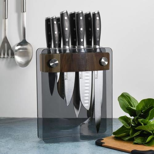 Professional X50 Knife Set 8 Piece and Glass Block