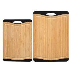 ProCook Non Slip Bamboo Chopping Board Set - 2 Piece
