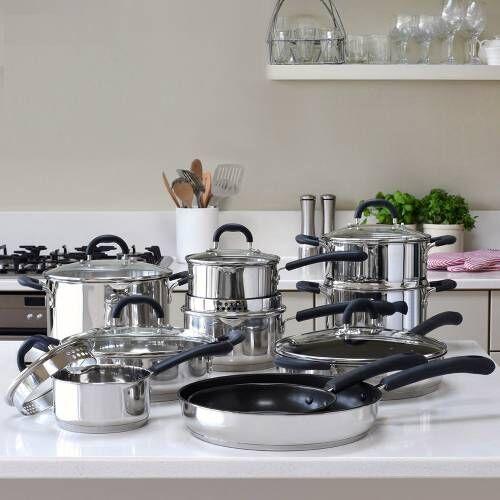 Gourmet Stainless Steel Cookware Set 10 Piece
