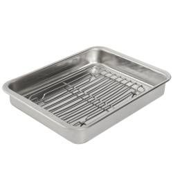 ProCook Stainless Steel Roasting Tin with Rack - 32 x 43cm