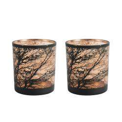 ProCook Etched Copper Tealight Holder Set of 2 - Tree Medium