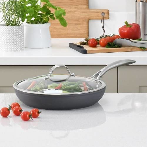 Professional Anodised Frying Pan with Lid 28cm