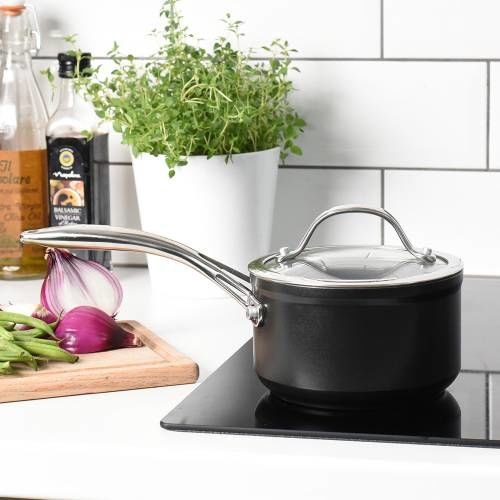 Professional Ceramic Saucepan & Lid 14cm / 1.2L