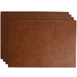 ProCook Rectangular Placemats - Set of 4 - Brown Faux Leather
