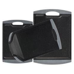 ProCook Non Slip Chopping Board Set - 3 Piece Granite Effect