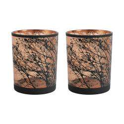 ProCook Etched Copper Tealight Holder Set of 2 - Tree Large