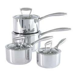 ProCook Elite Tri-Ply Saucepan Set - 4 Piece
